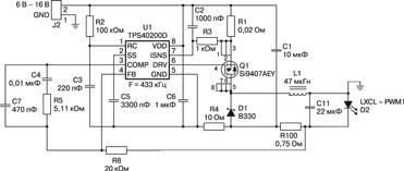 Tps5430 схема включения