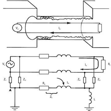 Эквивалентная схема STP-кабеля